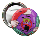 Soy Allergy Superhero Girl Button