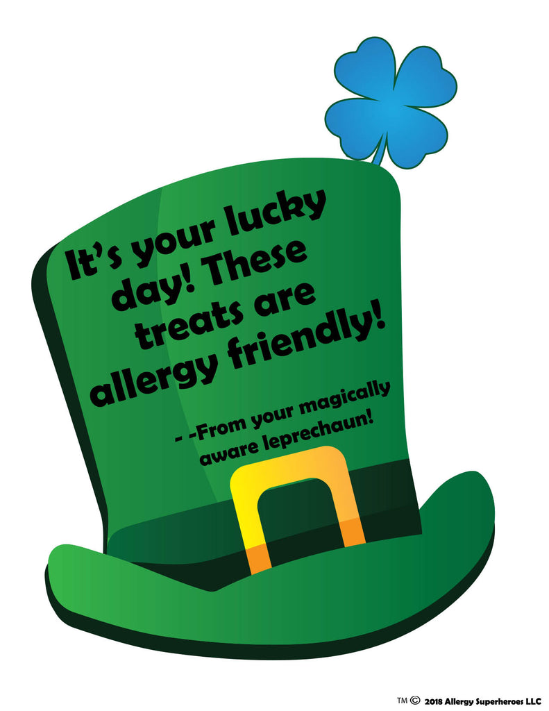 Food Allergy Superheroes St. Patrick's Day safe treats from the magically food allergy aware leprechaun