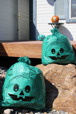 Teal Pumpkin Leaf Bags