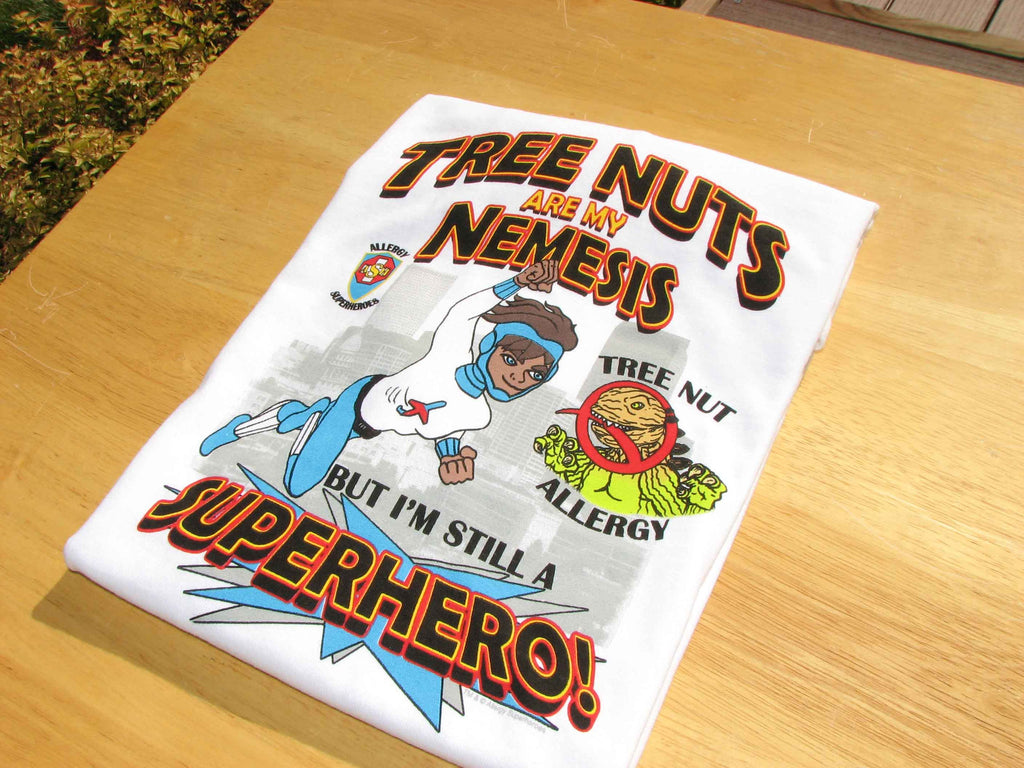 Nutzilla Tree Nut T-Shirt featuring Jet Trail by food Allergy Superheroes.