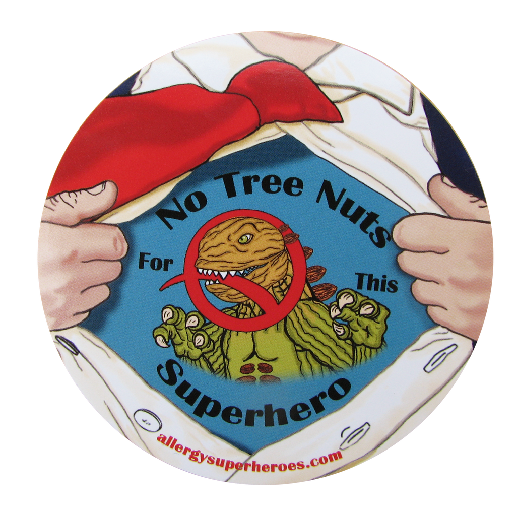 Nutzilla Tree Nut Allergy boy sticker by food Allergy Superheroes.