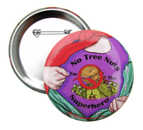 Tree Nut Allergy Superhero Girl Button