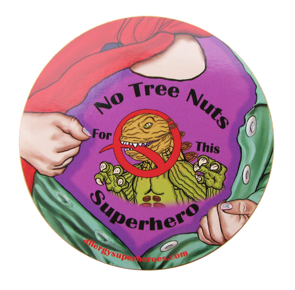 Nutzilla Tree Nut Allergy girl sticker by food Allergy Superheroes.