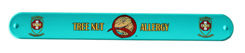 Nutzilla Tree Nut Allergy slap bracelet by food Allergy Superheroes.