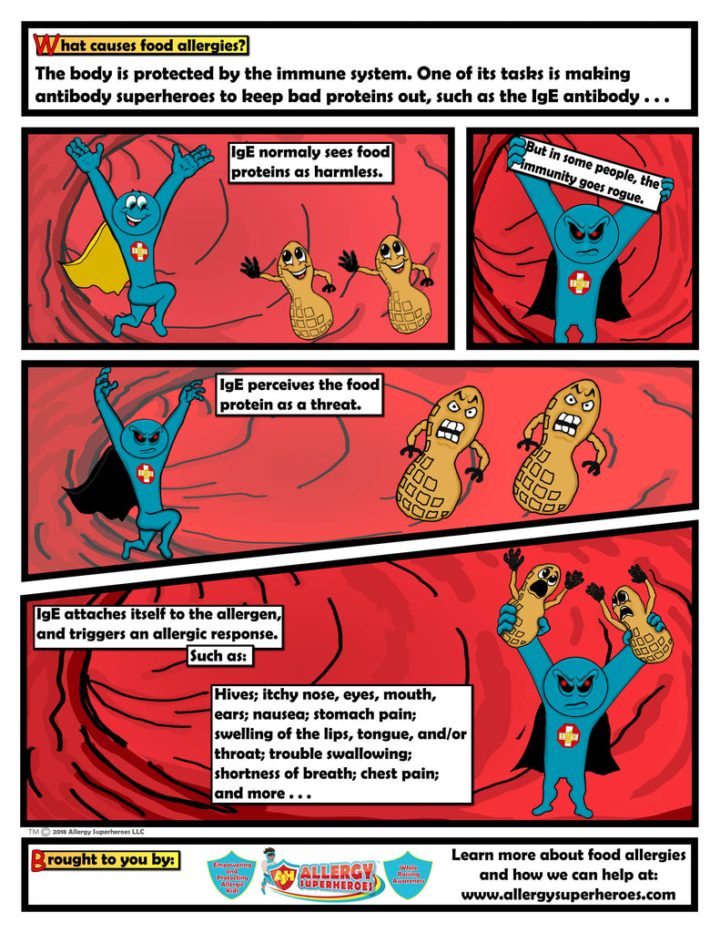 What Causes Food Allergies Comic Book Page