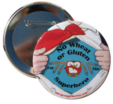 Wheat/Gluten Allergy Superhero Boy Button