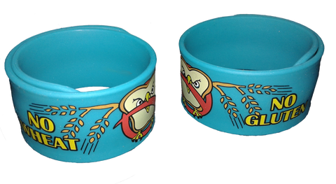 Celihawk Gluten Wheat Allergy slap bracelet by food Allergy Superheroes.