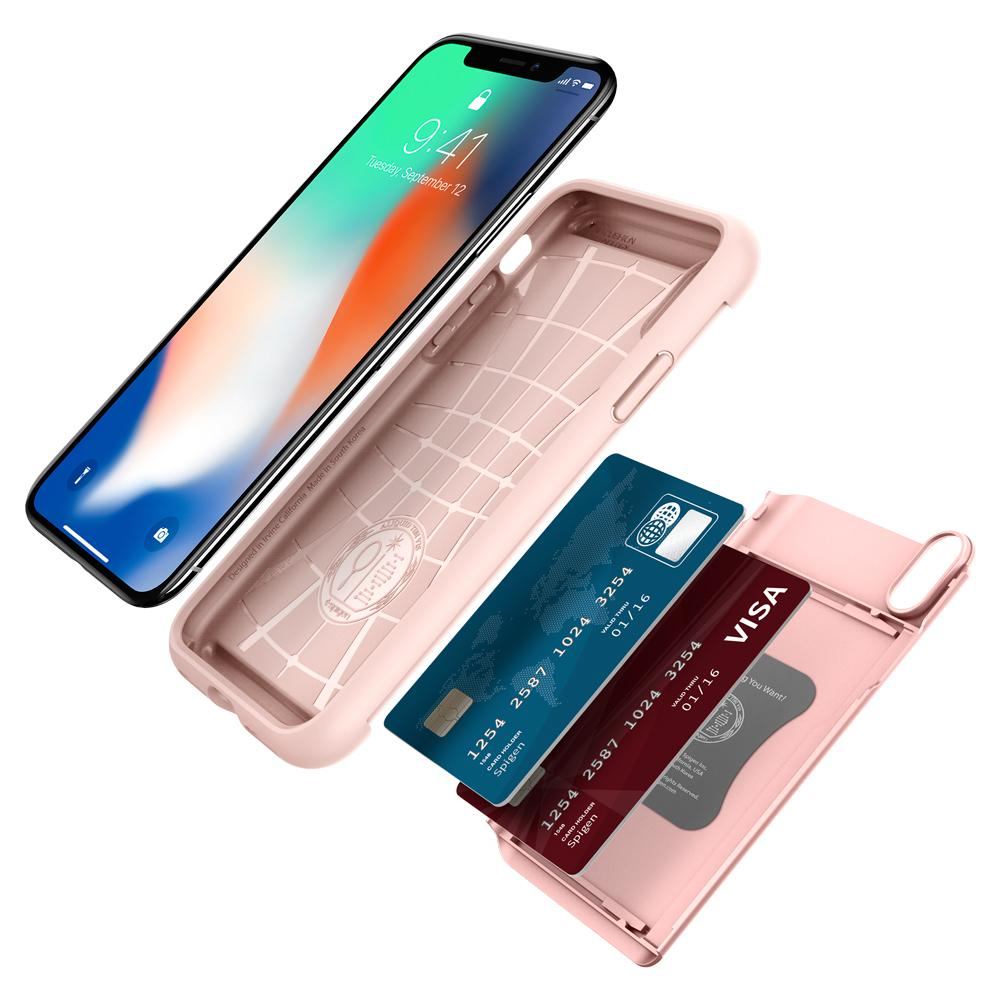 iPhone X Case Crystal Wallet