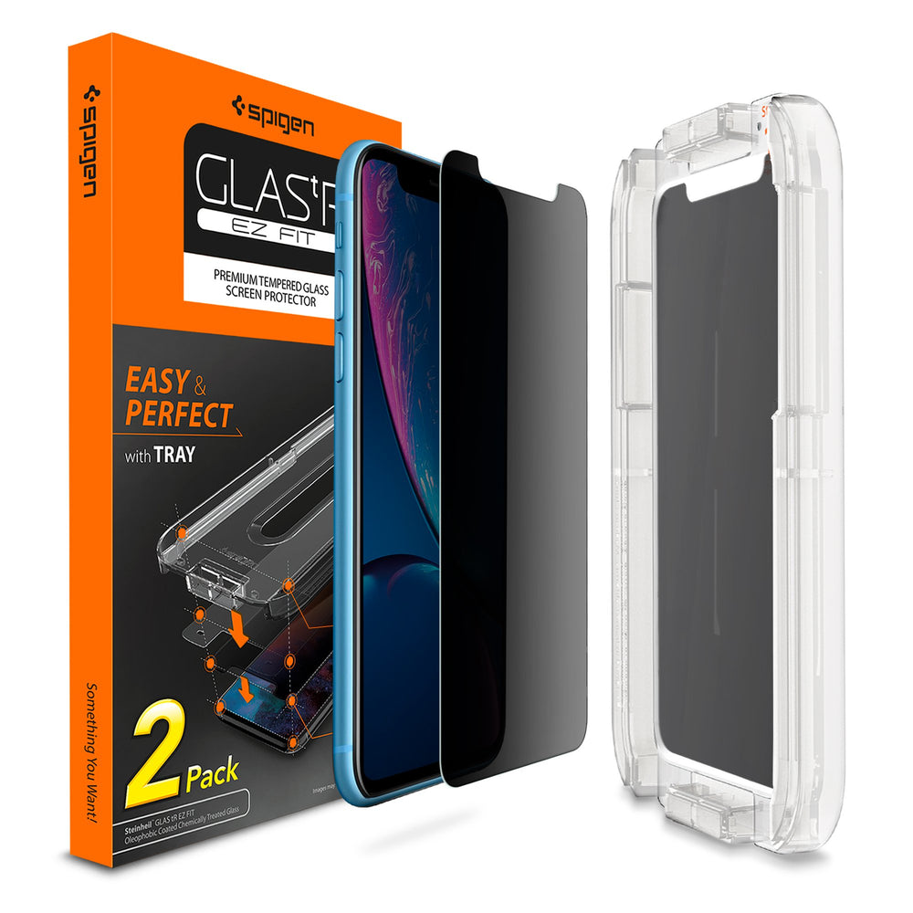 iPhone XR Screen Protector EZ FIT GLAS.tR Privacy