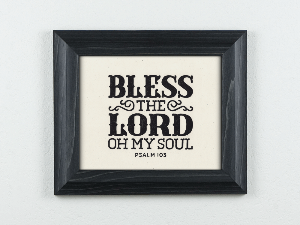 Bless the Lord Original Block Print