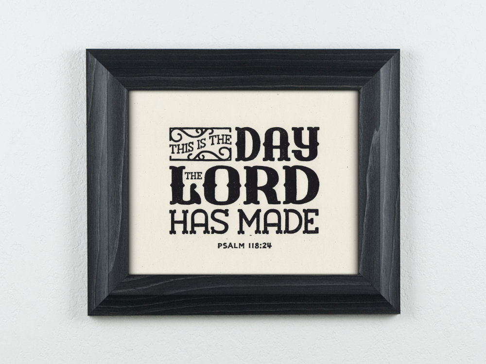 Day The Lord Has Made Original Block Print