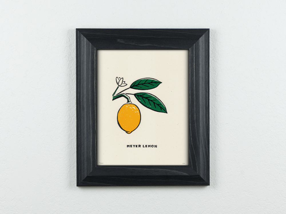 Meyer Lemon Original Blockprint