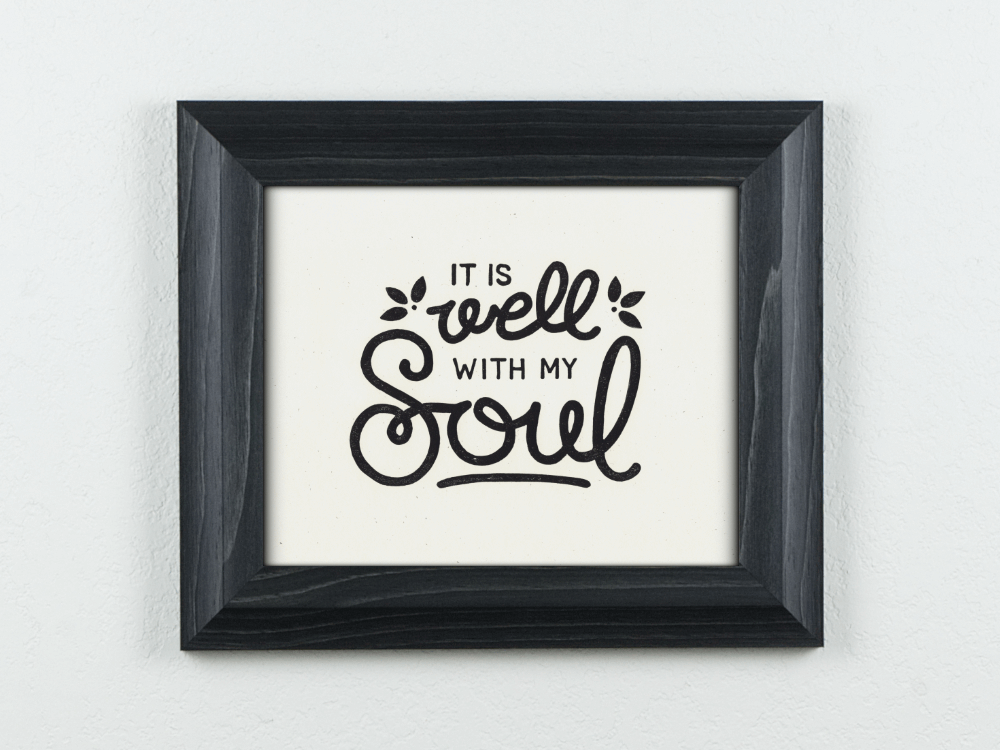 Well With My Soul Original Blockprint