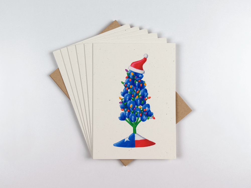 Set of 6 Bluebonnet Christmas Cards