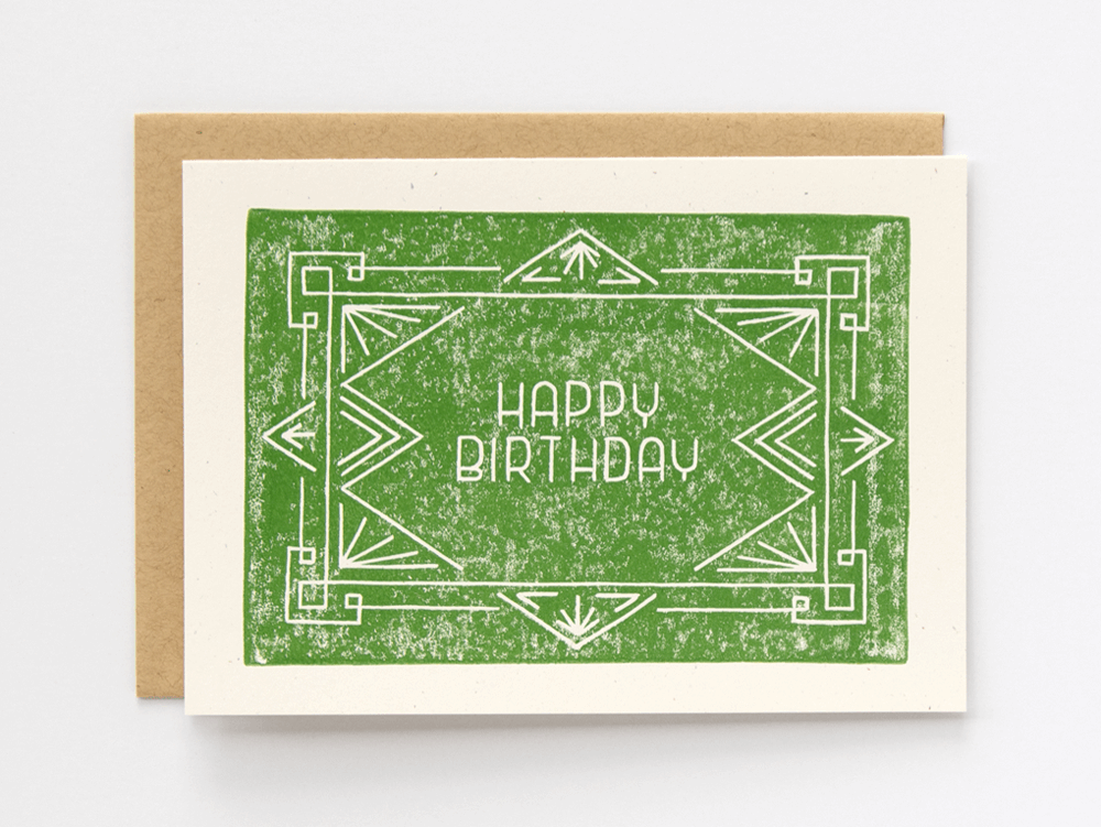 Happy Birthday (Green) Greeting Card