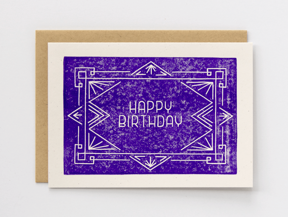 Happy Birthday (Violet) Greeting Card