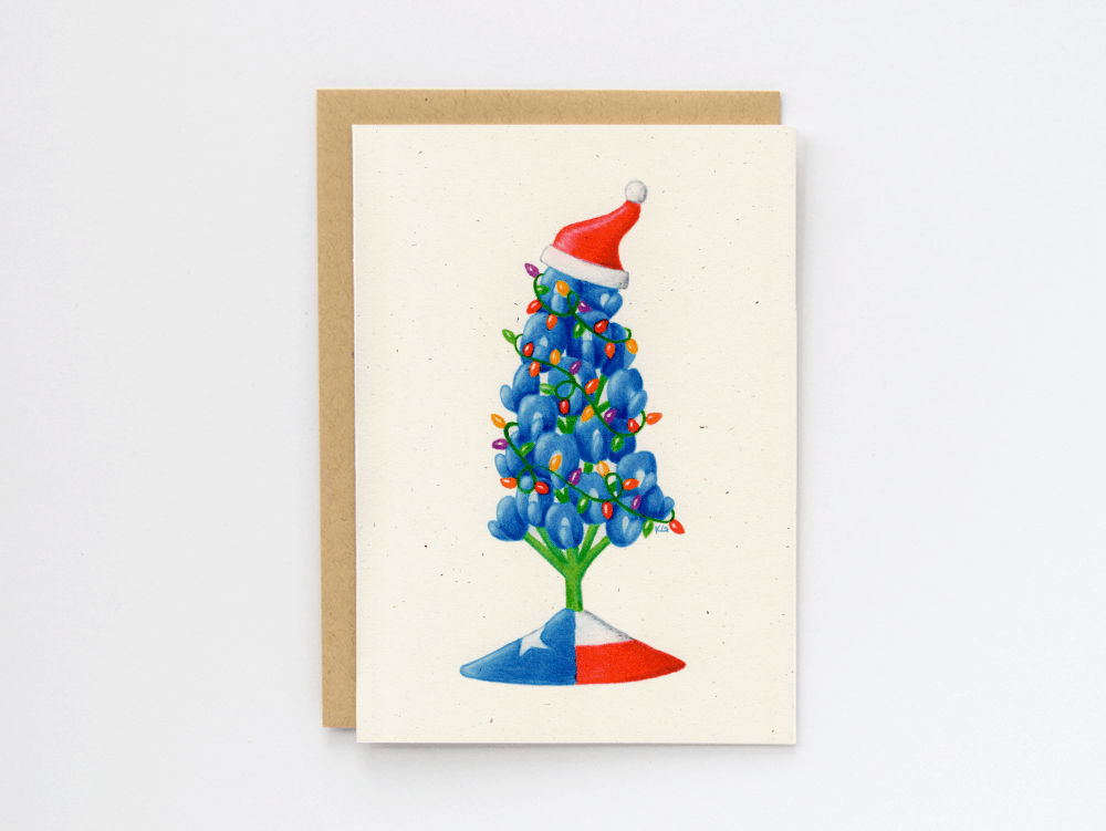 Bluebonnet Christmas Card