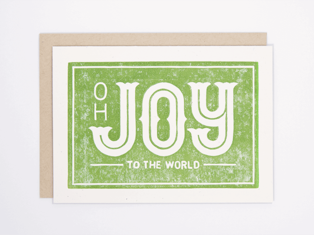 Joy to the World (Green) Greeting Card