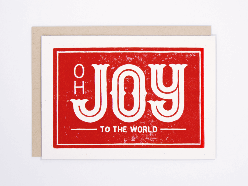Joy to the World (Red) Greeting Card