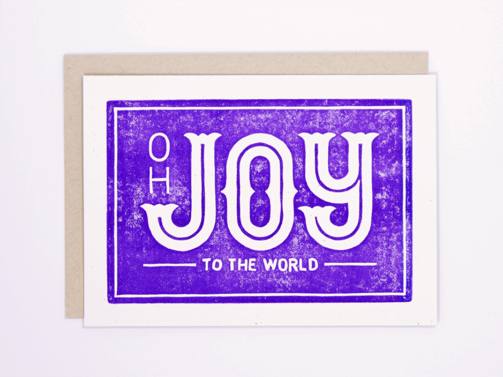 Joy to the World (Violet) Greeting Card