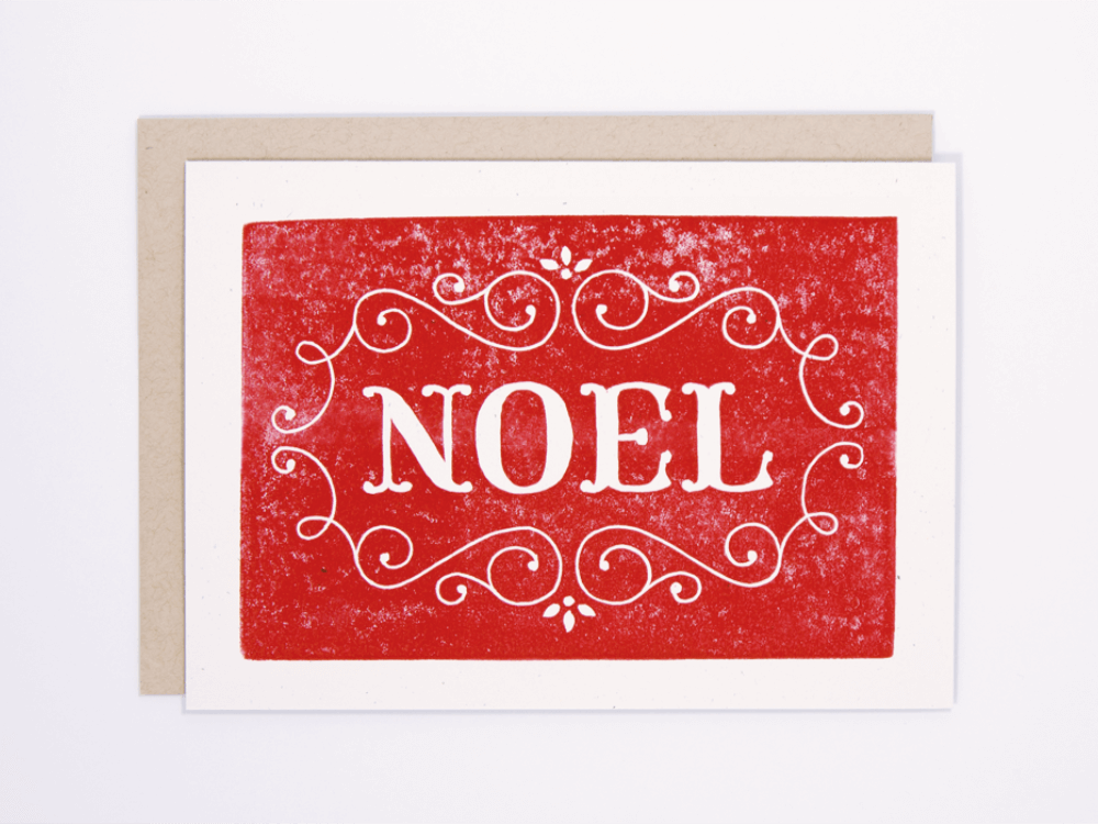 Noel (Red) Greeting Card