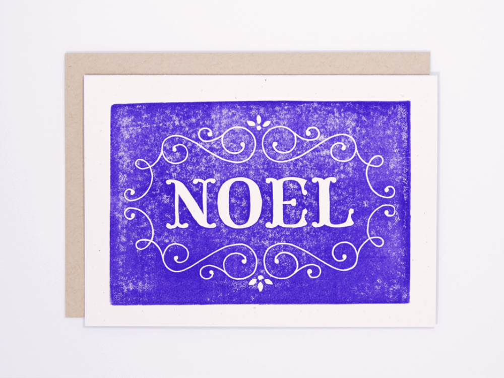 Noel (Violet) Greeting Card