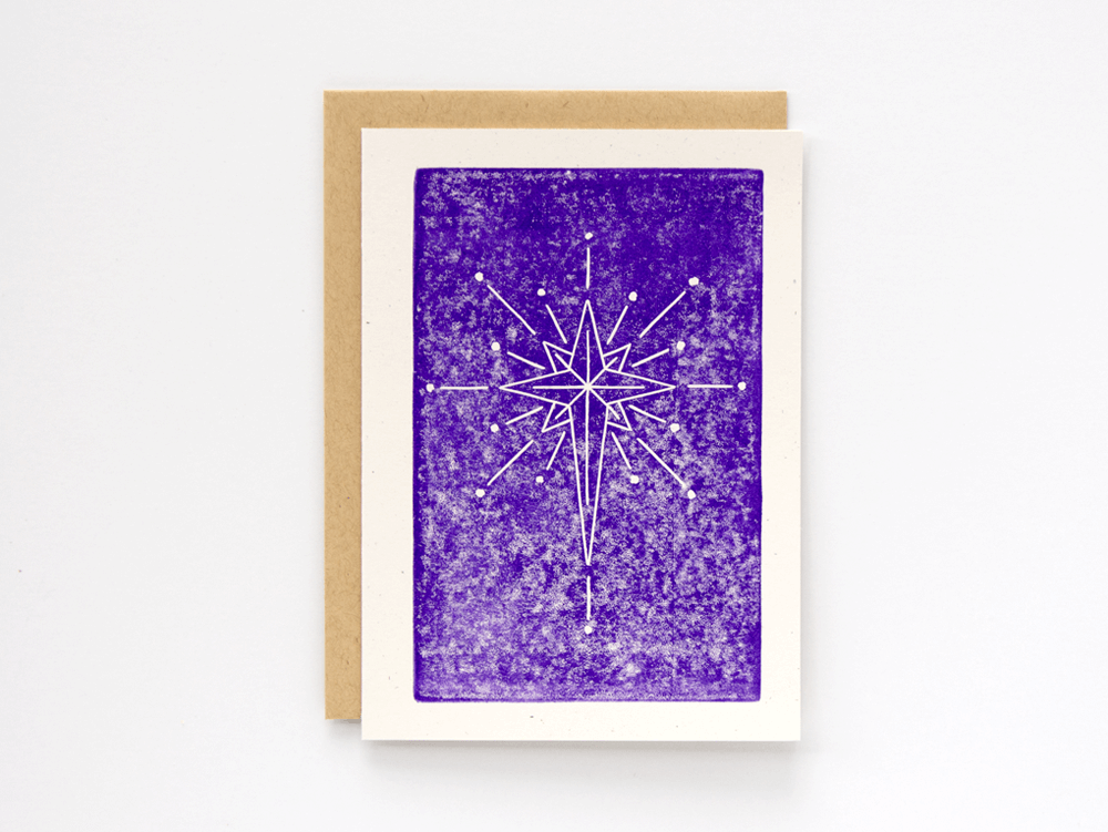 Christmas Star (Violet) Greeting Card