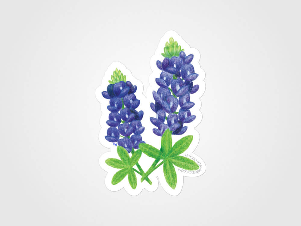 Texas Bluebonnet Vinyl Sticker