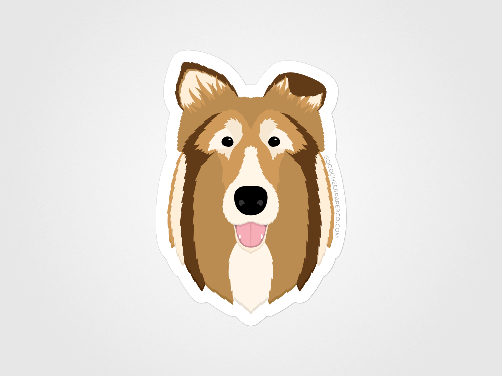 Collie Sticker | Good Cheer Paper Co
