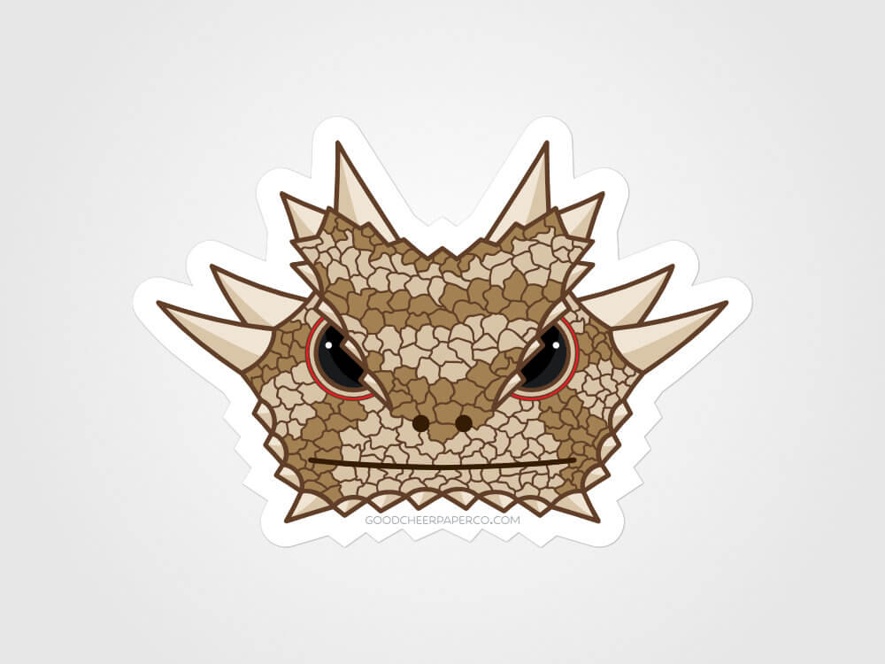 Texas Horned Lizard Vinyl Sticker