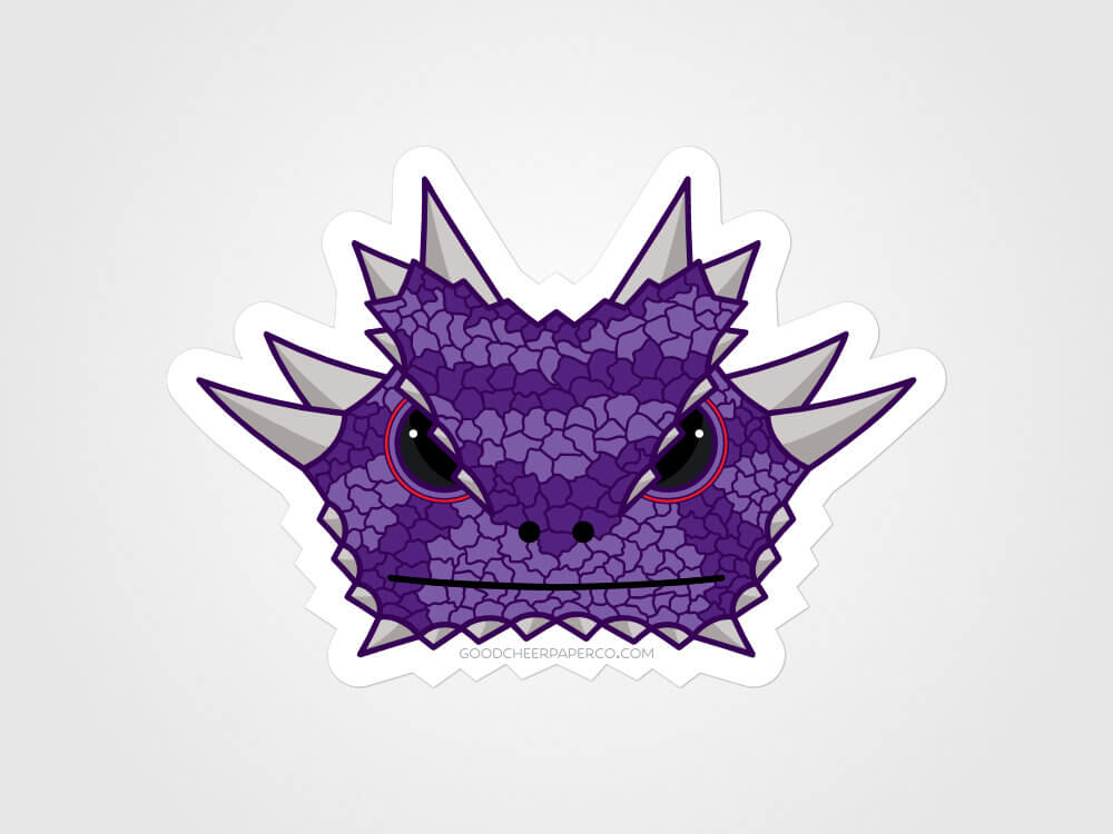 Horned Frog Sticker Vinyl Sticker