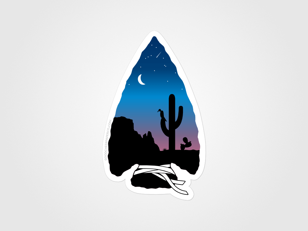 Sonoran Sunset Sticker | Good Cheer Paper Co