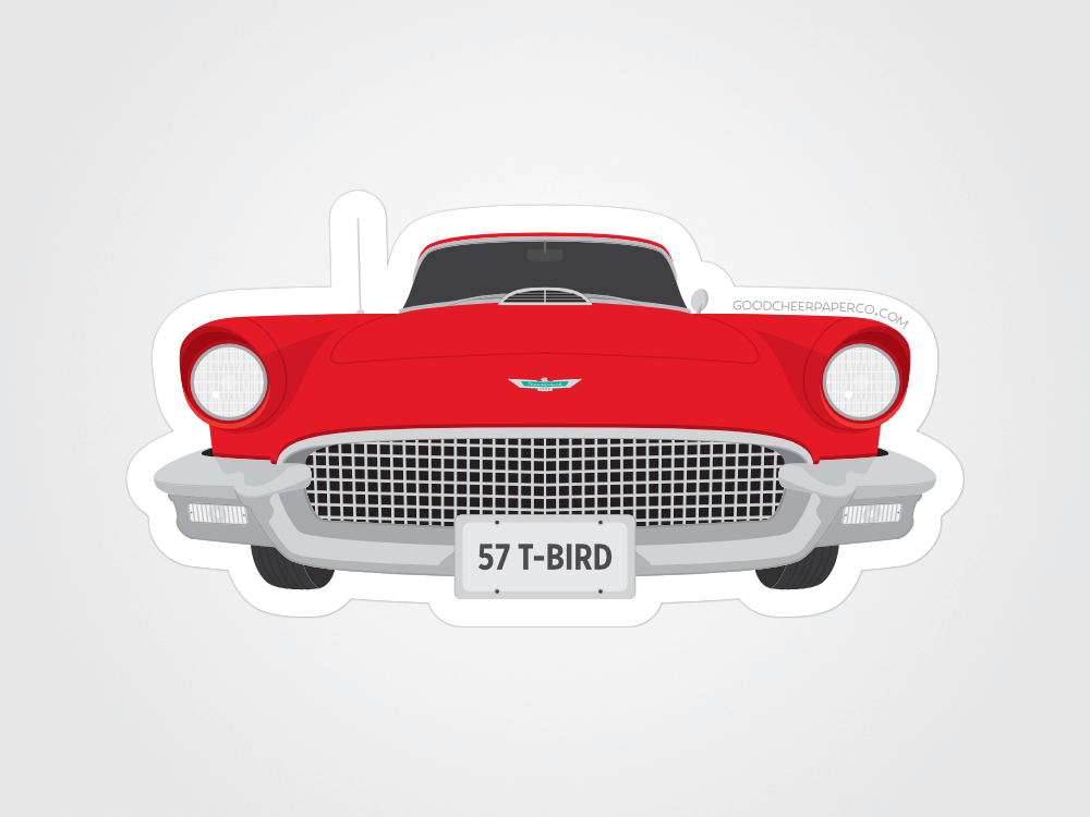 1957 Thunderbird Sticker | Good Cheer Paper Co