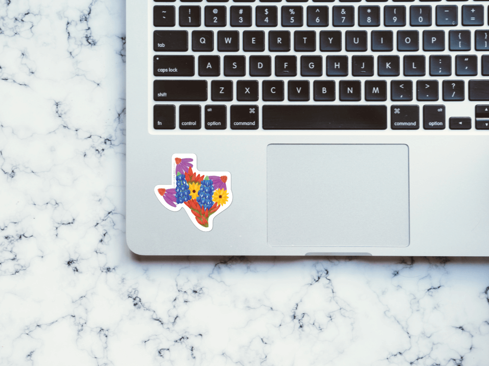 Texas Wildflowers Sticker | Good Cheer Paper Co