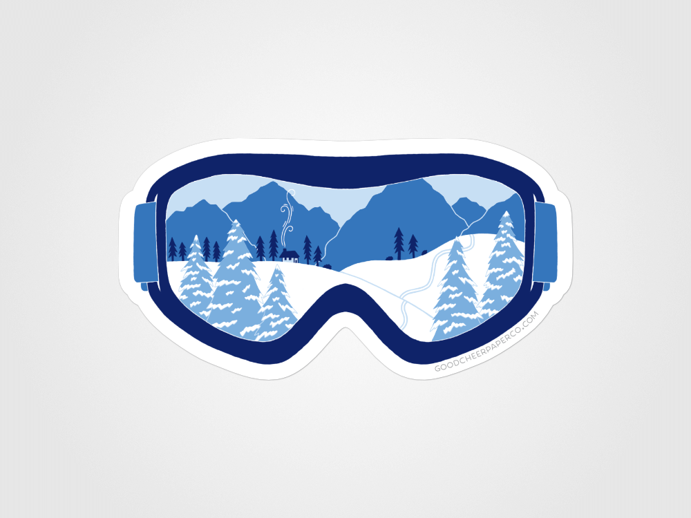 Winter Blues Sticker | Good Cheer Paper Co