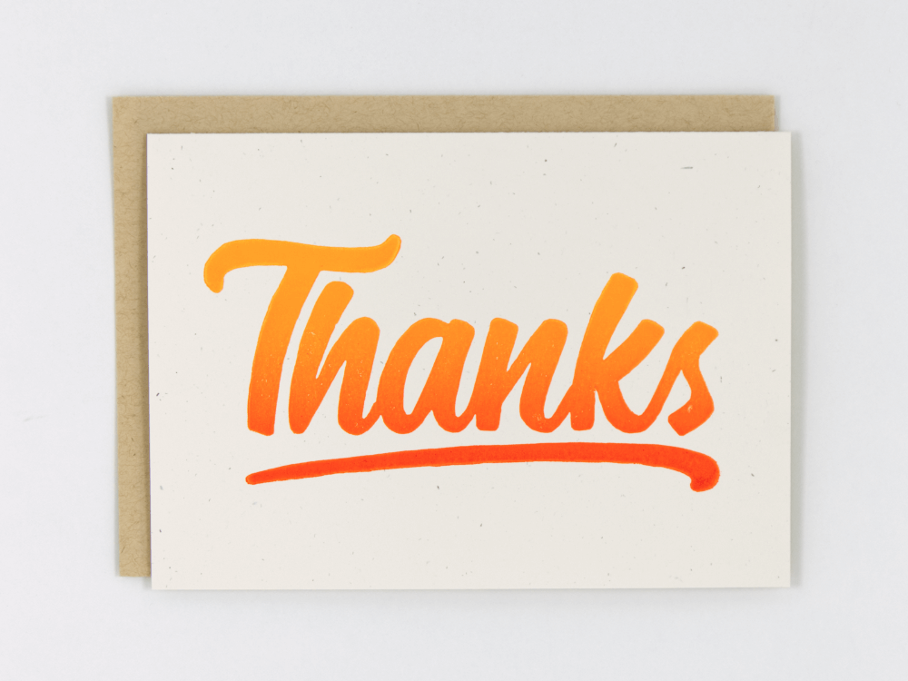 Thanks (Orange) Greeting Card