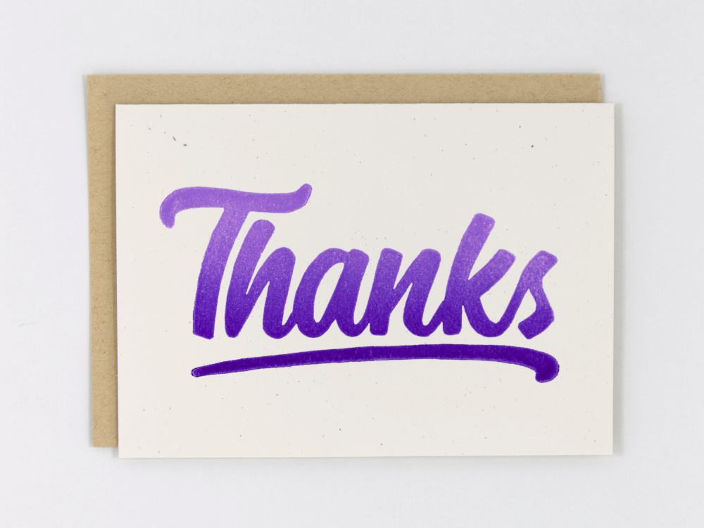 Thanks (Purple) Greeting Card
