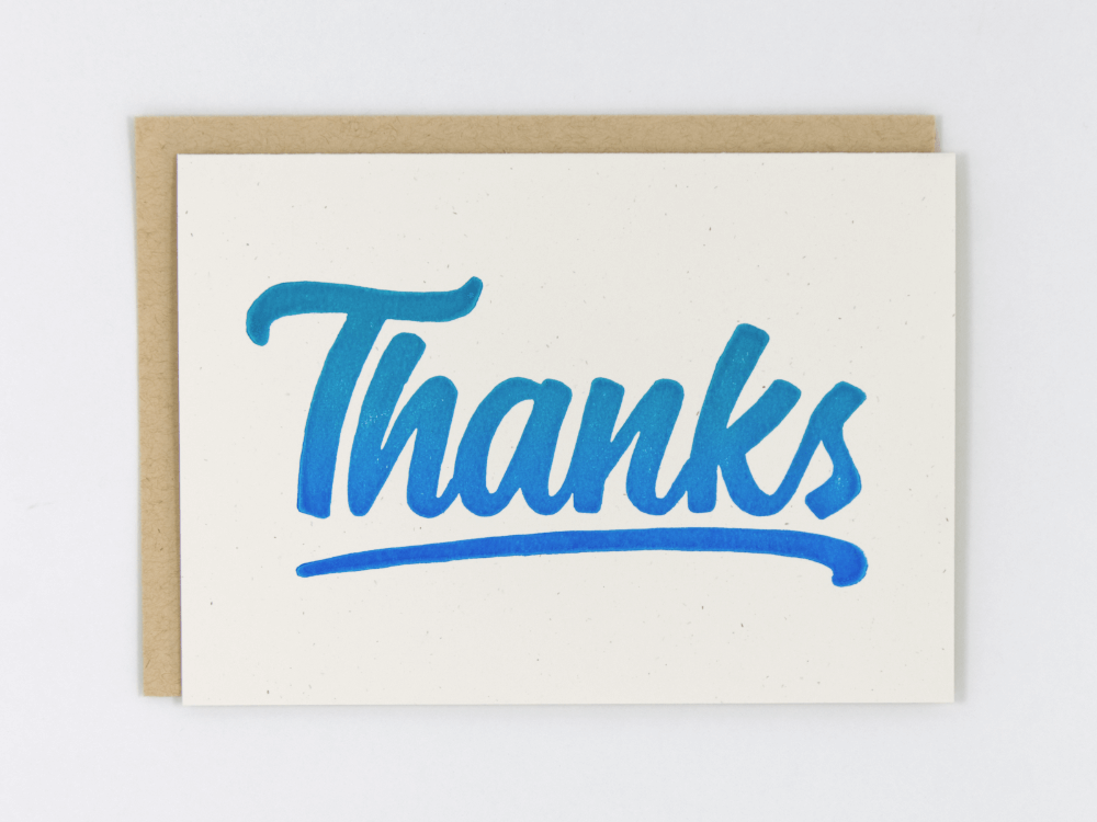 Thanks (Blue) Greeting Card
