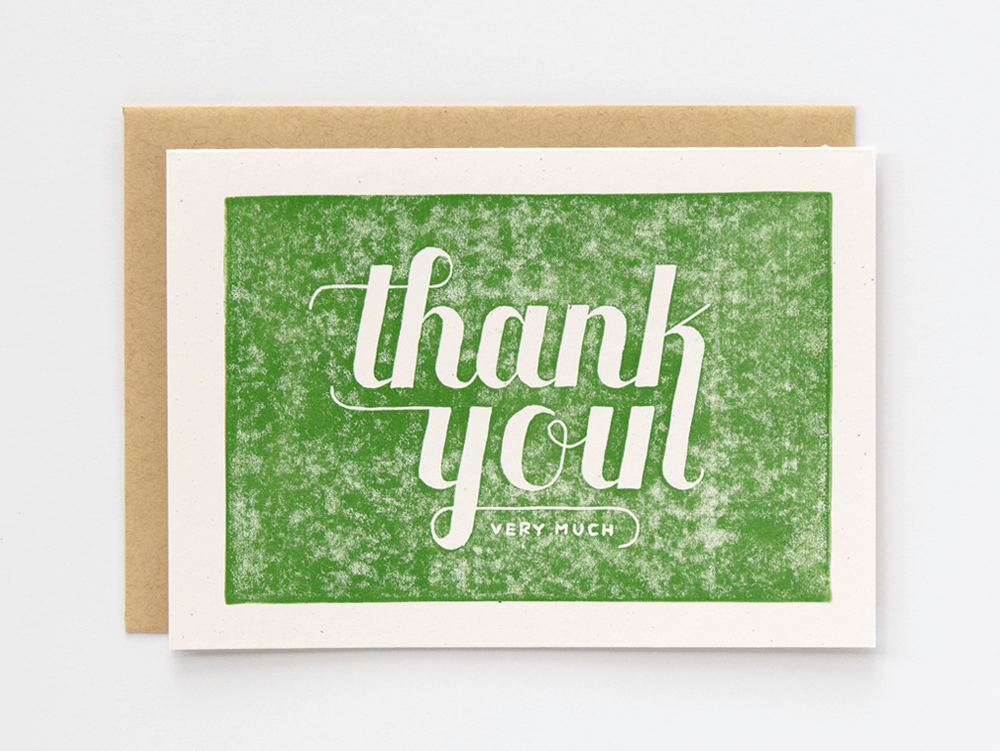 Thank You Very Much (Green) Greeting Card