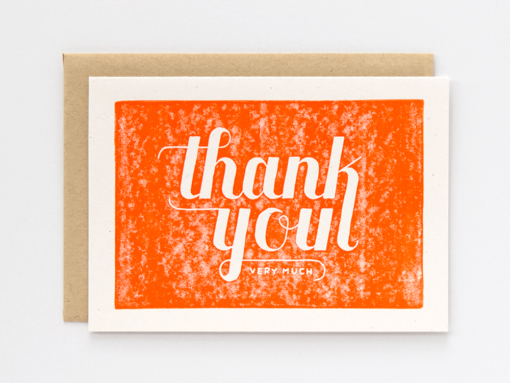 Thank You Very Much (Orange) Greeting Card