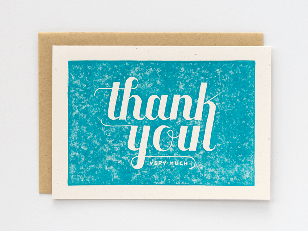 Thank You Very Much (Turquoise) Greeting Card