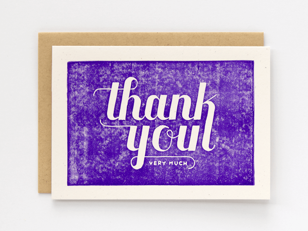 Thank You Very Much (Violet) Greeting Card