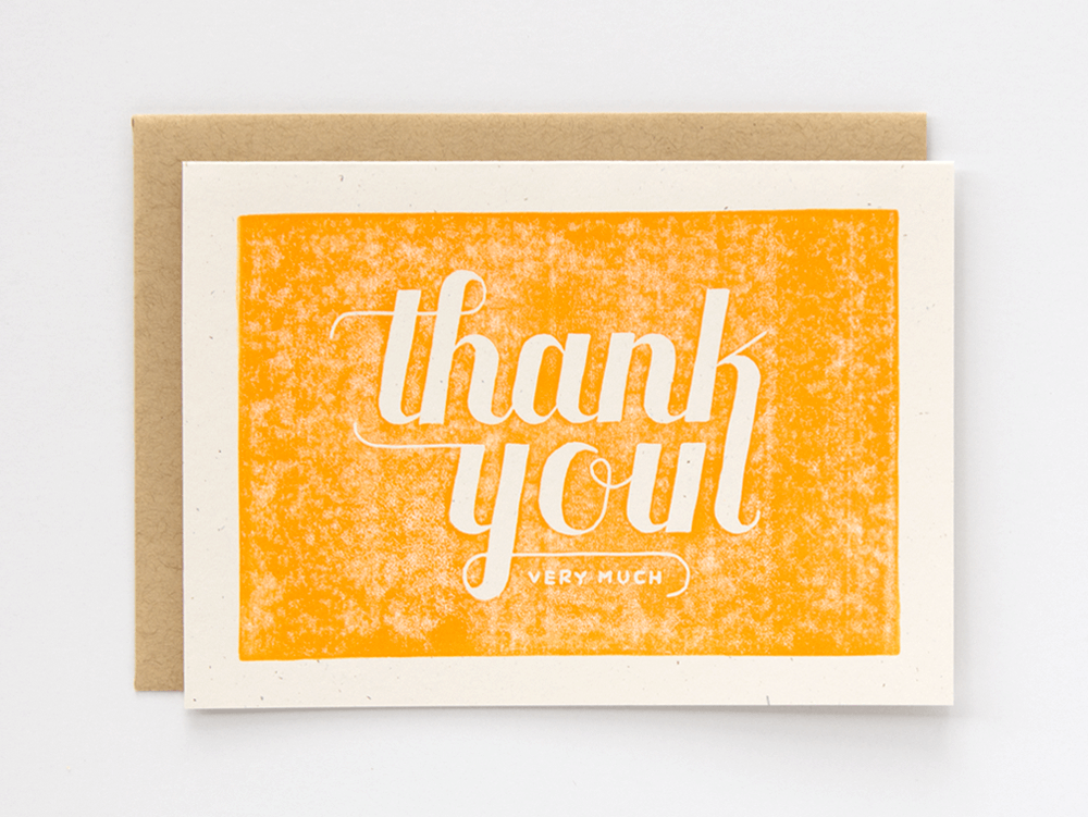 Thank You Very Much (Yellow) Greeting Card