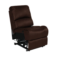 "RecPro Charles 22"" RV Recliner and Drop Down Console w/ Cup Holders Mahogany"