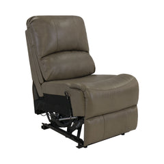 "RecPro Charles 22"" RV Recliner and Drop Down Console w/ Cup Holders Putty"