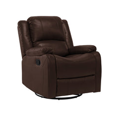 "RecPro Charles 30"" RV Swivel Glider Recliner Chair Mahogany"
