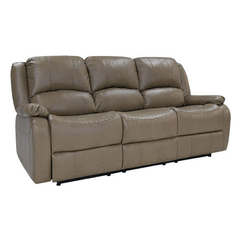 "RecPro Charles 80"" Triple RV Wall Hugger Recliner Sofa w/ Drop Down Console Putty"