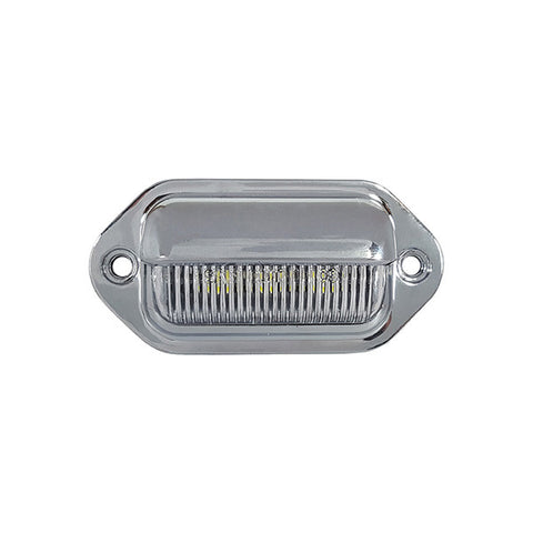 Chrome LED License Plate Light