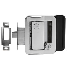 Chrome RV Paddle Entry Door Lock with Deadbolt