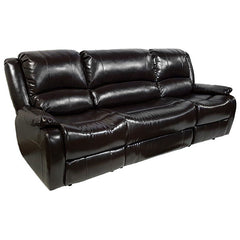 "RecPro™ Charles 94"" Double RV Wall Hugger Recliner Sofa w/ Drop Down Console Espresso"